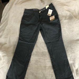Sonoma Slim Straight Cut Grey Khaki Stretch Pants